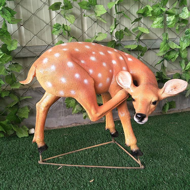 玻璃钢鹿雕塑 园林景观动物雕塑 仿真梅花价格鹿,鹏钊
