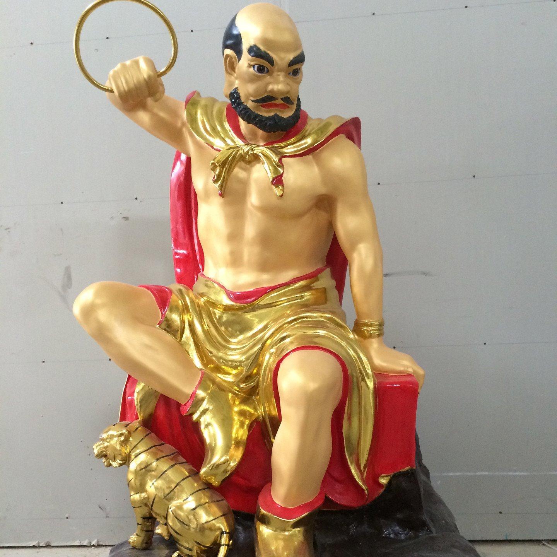 贴金十八罗汉佛像 三宝殿十八尊者佛像雕塑厂家