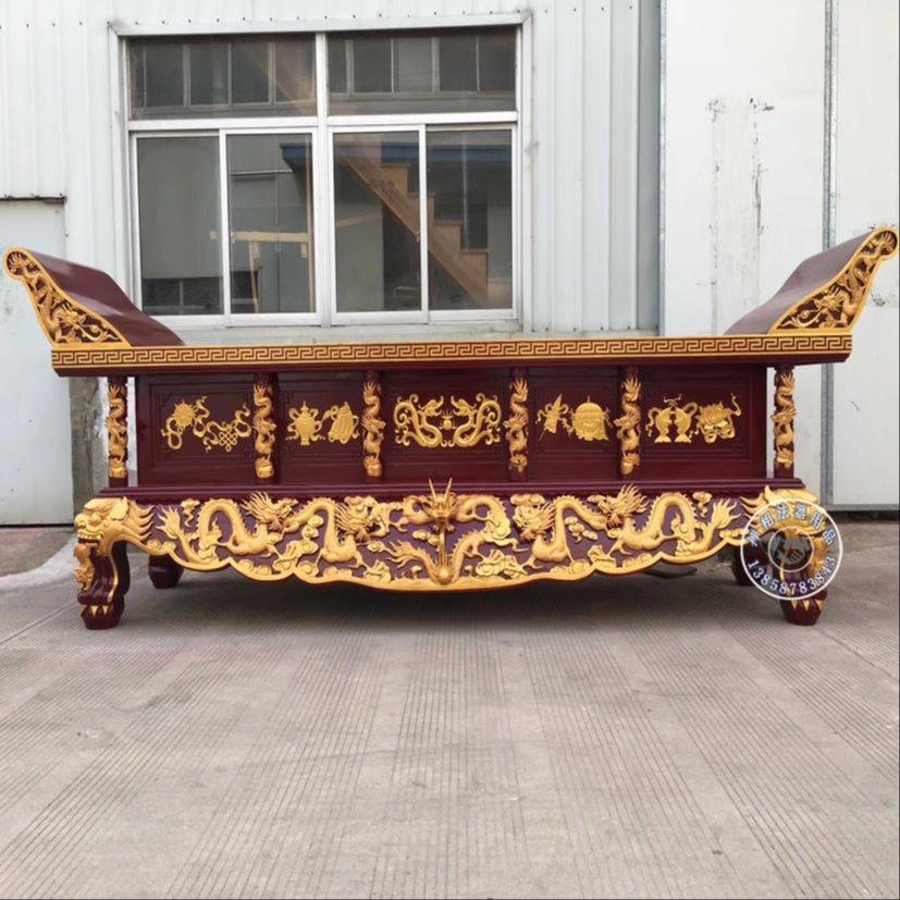 寺庙供桌 道观实木雕刻元宝桌 厂家制作销售