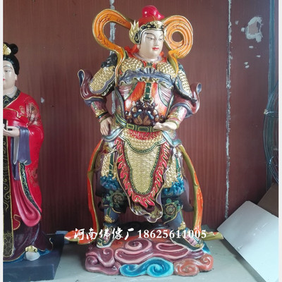 河南云峰佛像厂订做 树脂玻璃钢佛像 珈蓝菩萨 韦陀菩萨神像2米