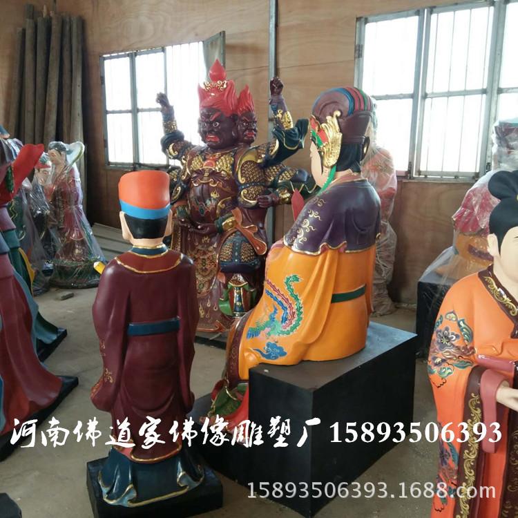 彩绘树脂佛像 碧霞元君1.8米 泰山奶奶神像厂家 河南佛道家示例图3