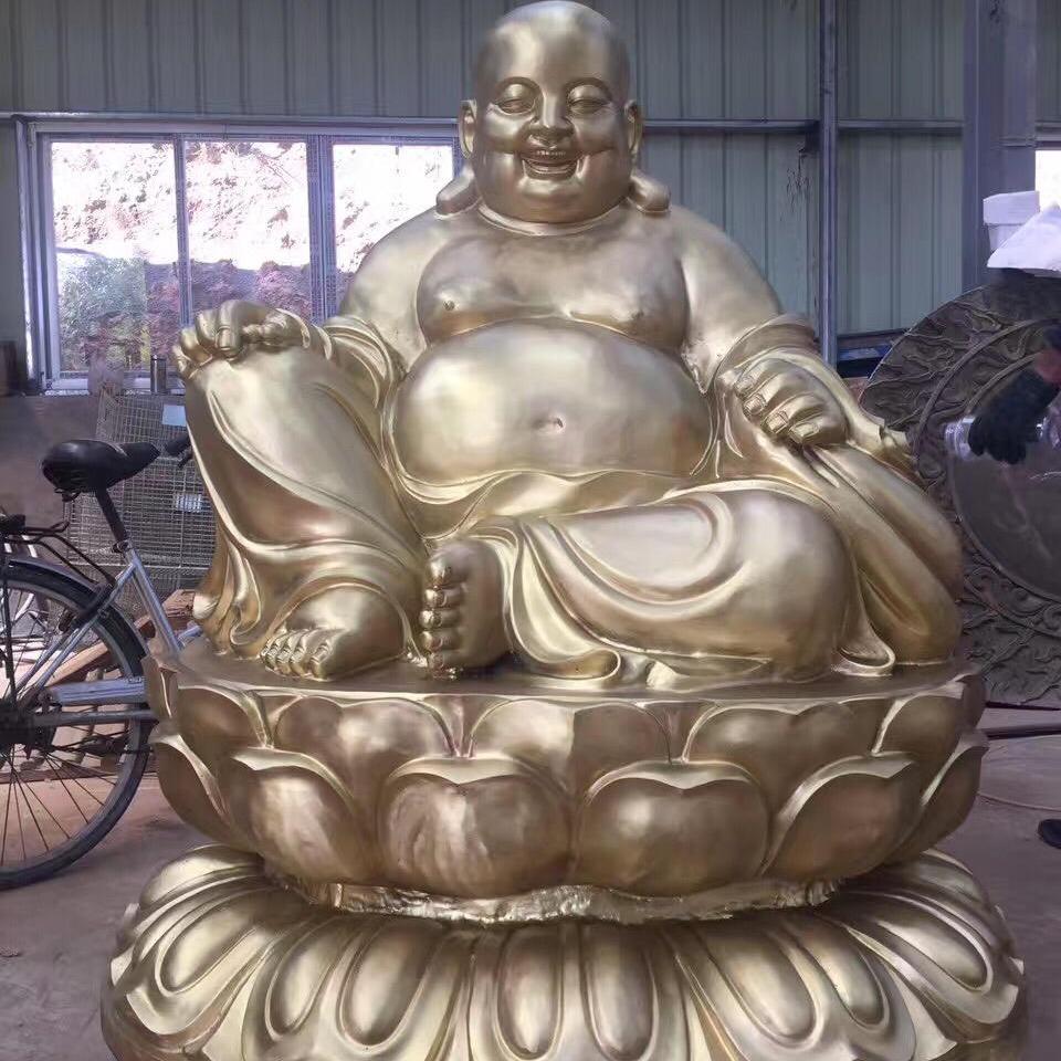 寺院铜佛像雕塑生产 弥勒菩萨佛像