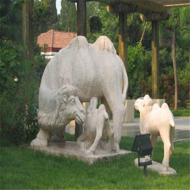 万象石雕 石雕骆驼 雕塑定制 石雕骆驼价格