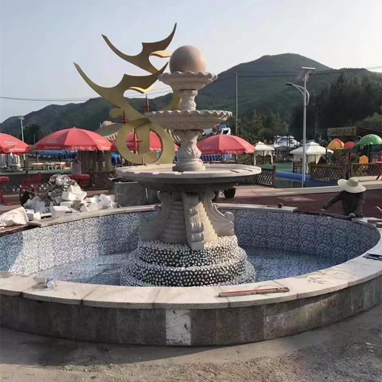石雕喷泉 公园景观喷泉 招财转运气喷泉 风水球喷泉 大理石喷泉厂家