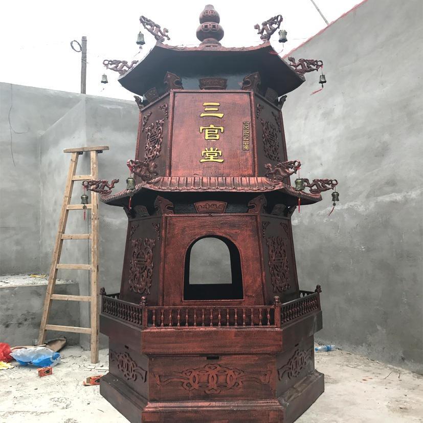 塔型二层元宝炉香炉 化宝炉法器生产销售