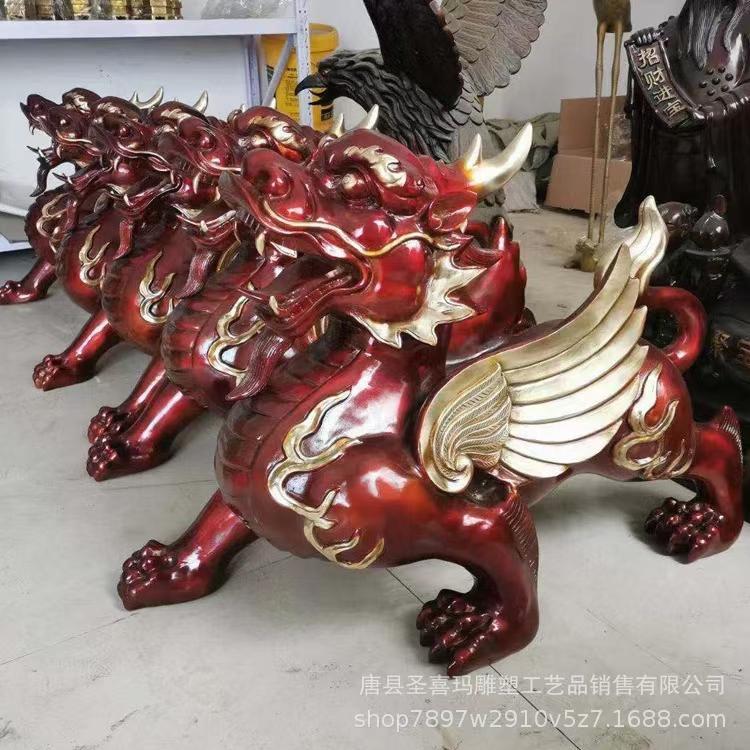 大型独角铜貔貅加工定制 铜貔貅摆件 招财铸铜貔貅 圣喜玛