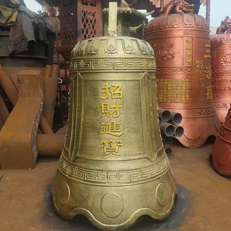 铜钟雕塑厂家 铸铜钟雕塑 祈福钟 圣喜玛