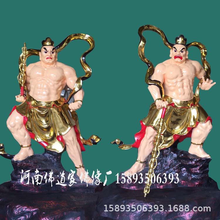 河南大型雕塑厂供应哼哈二将1.95米 四大护法 哼哈二将图片价格示例图1