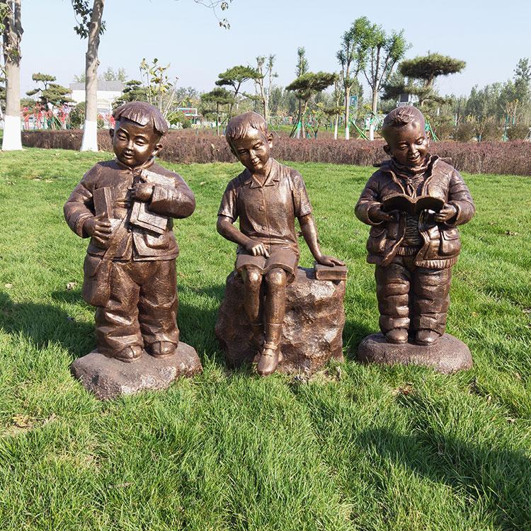 玻璃钢校园雕塑 童趣园林儿童玩耍摆件,鹏钊