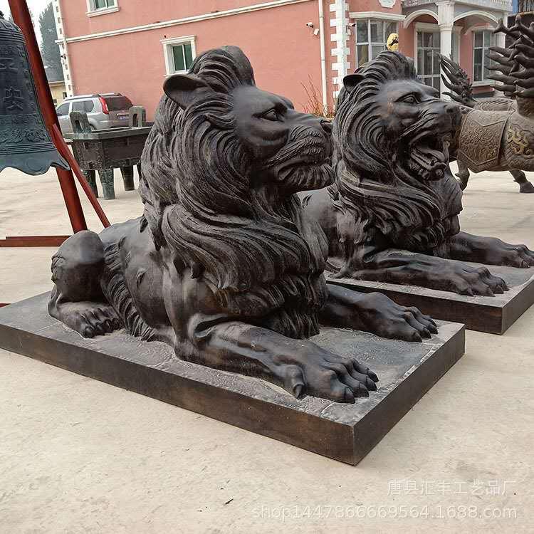 铸铜狮子铜雕厂 镇宅铸铜狮子 圣喜玛