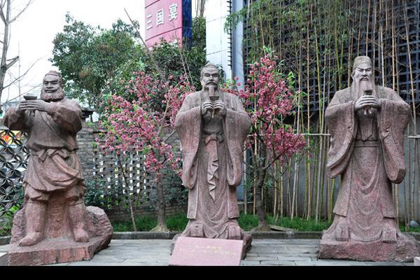 铸铜古代人物雕塑 桃园三结义雕塑 圣喜玛