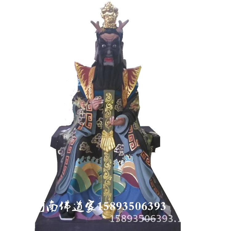 娑婆三圣佛像图片 华严三圣佛像厂家 极彩观世音菩萨雕塑2.1米示例图11