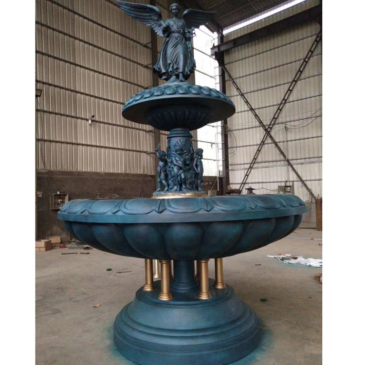 欧式铸铜喷泉厂家 广场铜雕喷泉 圣喜玛