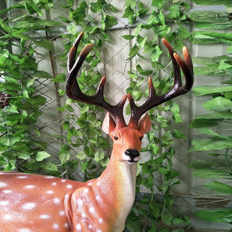 玻璃钢梅花鹿 玻璃钢仿真鹿定制 园林景观动物雕塑,鹏钊