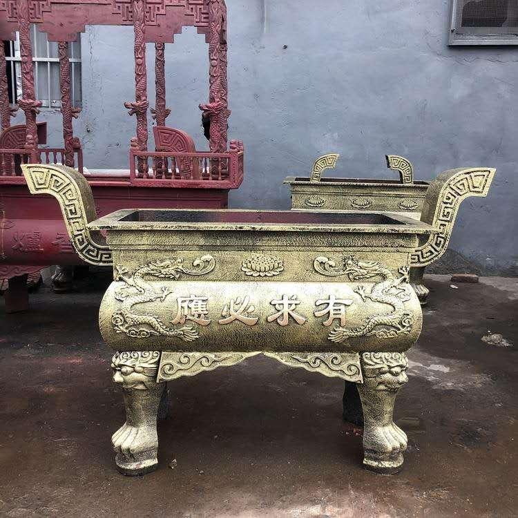 圣喜玛铜雕定制铜供桌 铸铜方鼎 圣喜玛