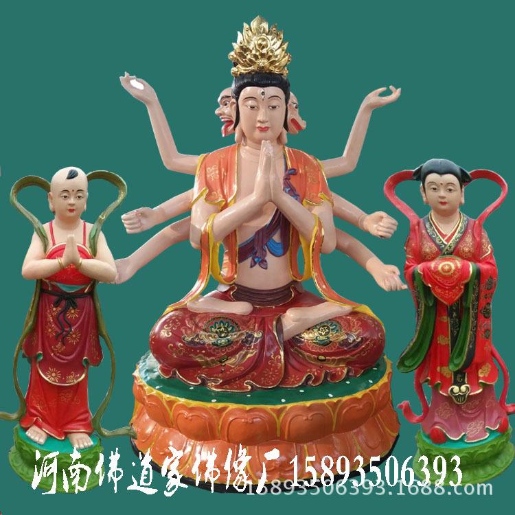 河南佛道家佛像生产斗母元君佛像 斗姆娘娘 斗姥 极彩玻璃钢神像示例图4