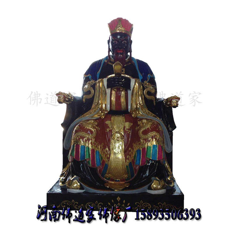 十殿阎王神像厂家 牛头马面佛像 2米黑白无常神像 河南佛道家
