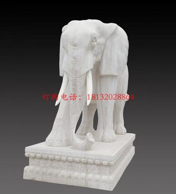 大理石大象,广场石雕大象