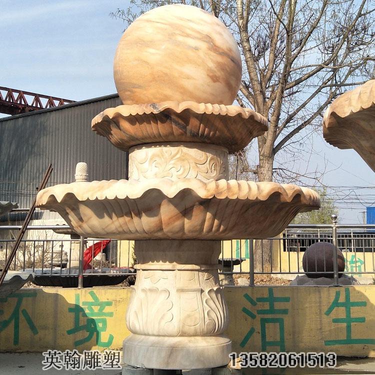 厂英翰雕塑厂家 石雕风水球 石雕欧式喷泉