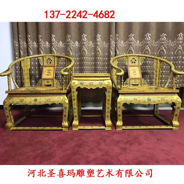 纯铜龙椅定做 铜龙椅雕塑价格 圣喜玛