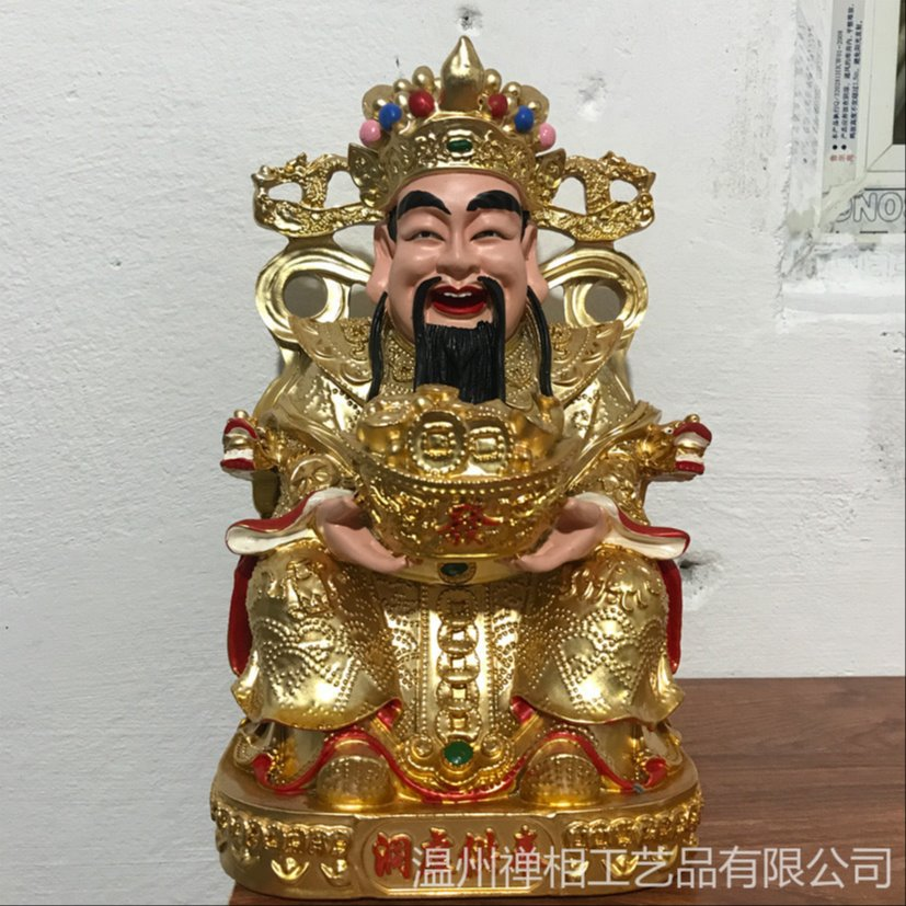 财神殿佛龛小佛像 小型财神像定制