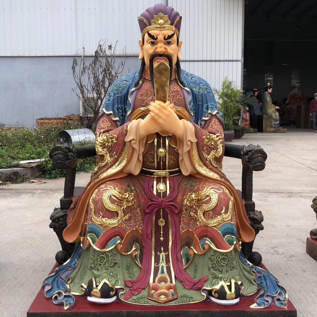 专业塑造道教三官大帝 1.5米精致彩绘三官大帝神像