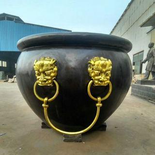 河北铸铜大缸生产厂家 庭院铜大缸 圣喜玛