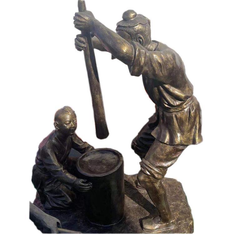 仿古人物铜雕 步行街商业街景观人物雕像 民俗人物雕像 圣喜玛