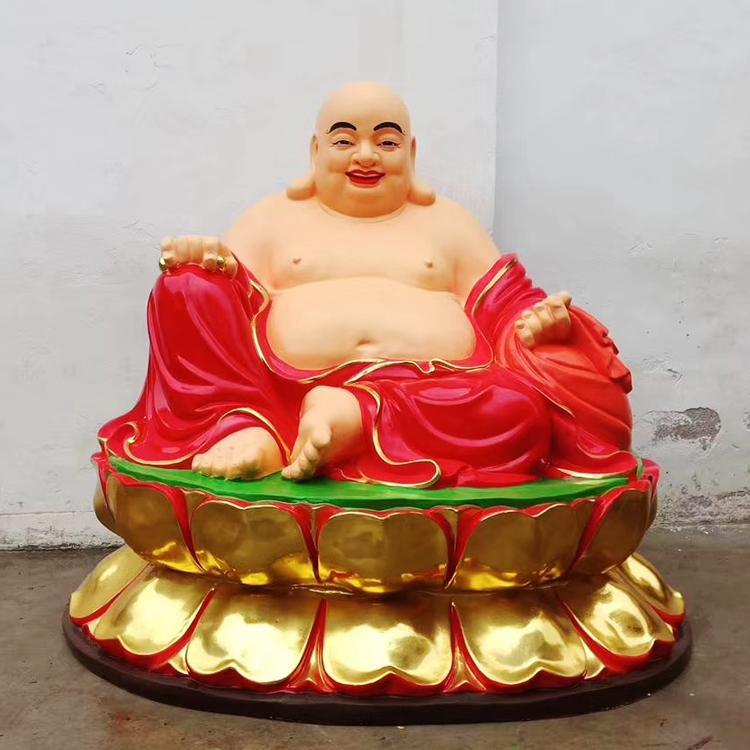 大型铜佛像生产厂家 弥勒佛铜佛像雕塑 圣喜玛