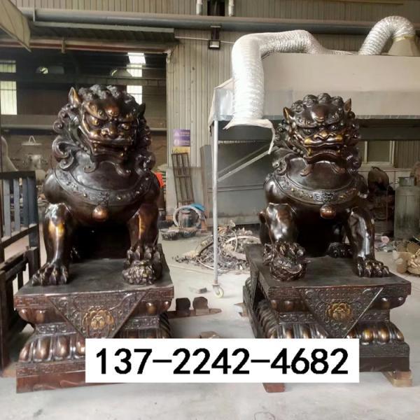 铜狮子铸造厂家供应 铸铜狮子支持定制 圣喜玛