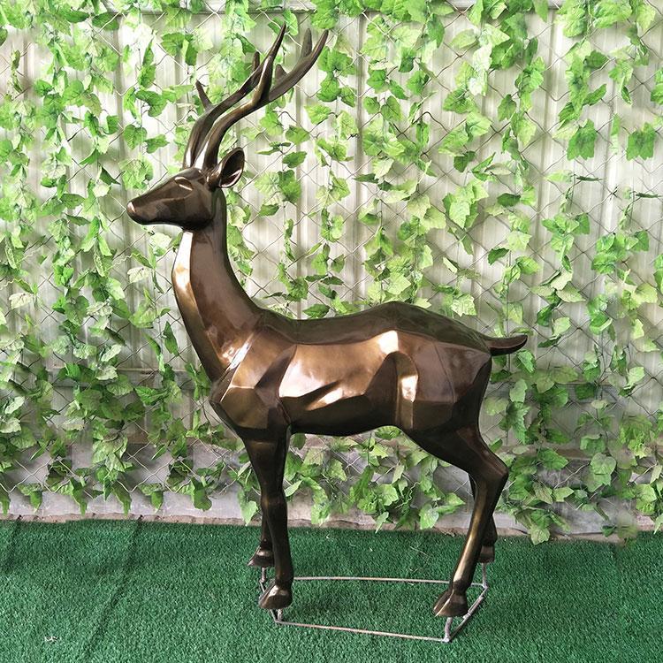 玻璃钢几何动物雕塑 玻璃钢抽象鹿,鹏钊