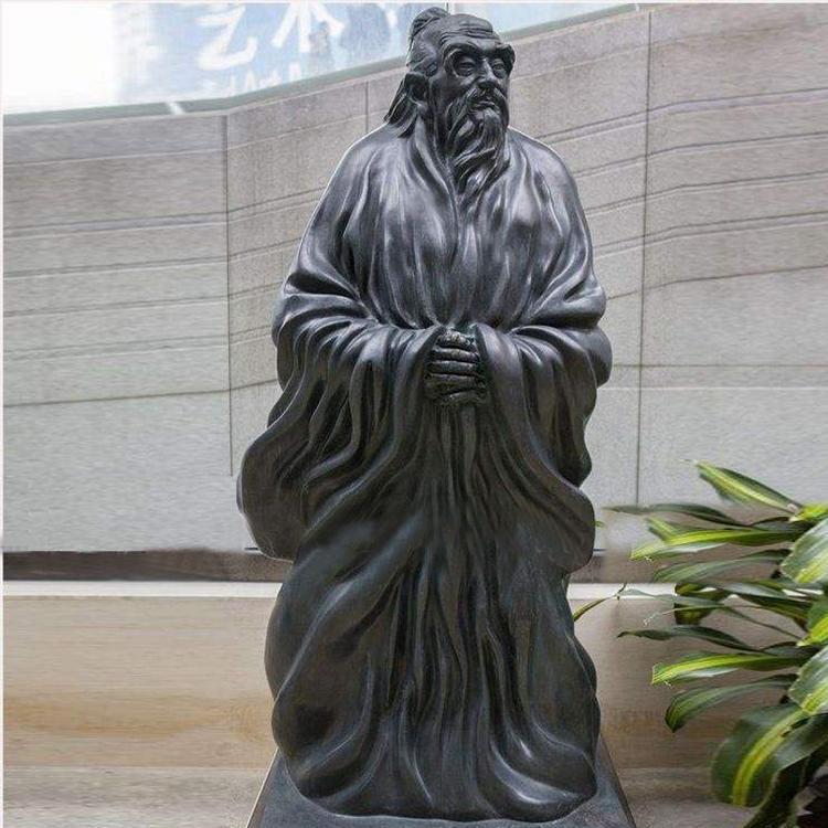 玻璃钢孔子像 仿铜孔子像 仿铜人物雕像 圣喜玛