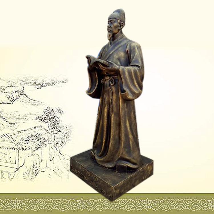 铸铜李时珍雕塑定制 名医雕塑 圣喜玛