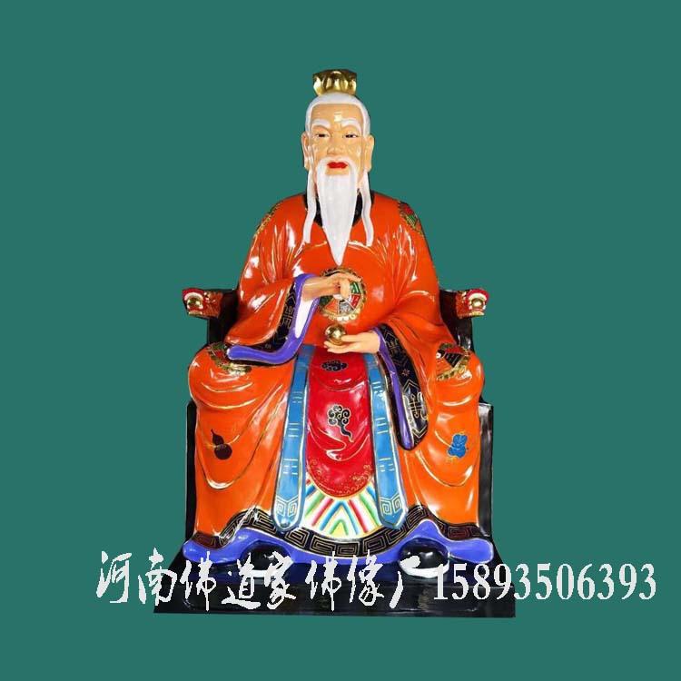 鸿钧老祖道教至高无上的大道众神之师玻璃钢佛像神像贴金示例图1
