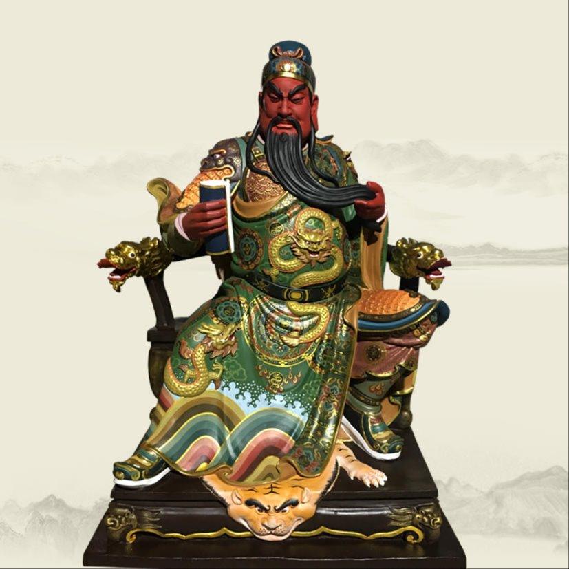 1.2米关公神像 铸铜关帝爷神像雕塑