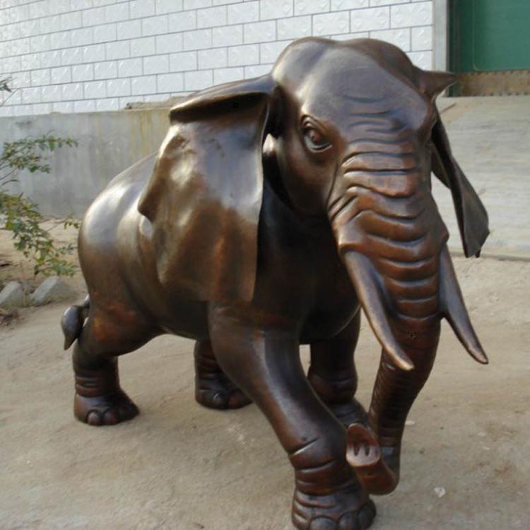 大型铜大象铸造厂 铸铜大象雕塑圣喜玛