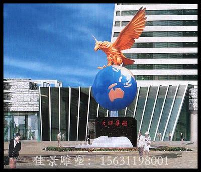 河南郑州大鹏展翅不锈钢雕塑,广场不锈钢雕塑厂家