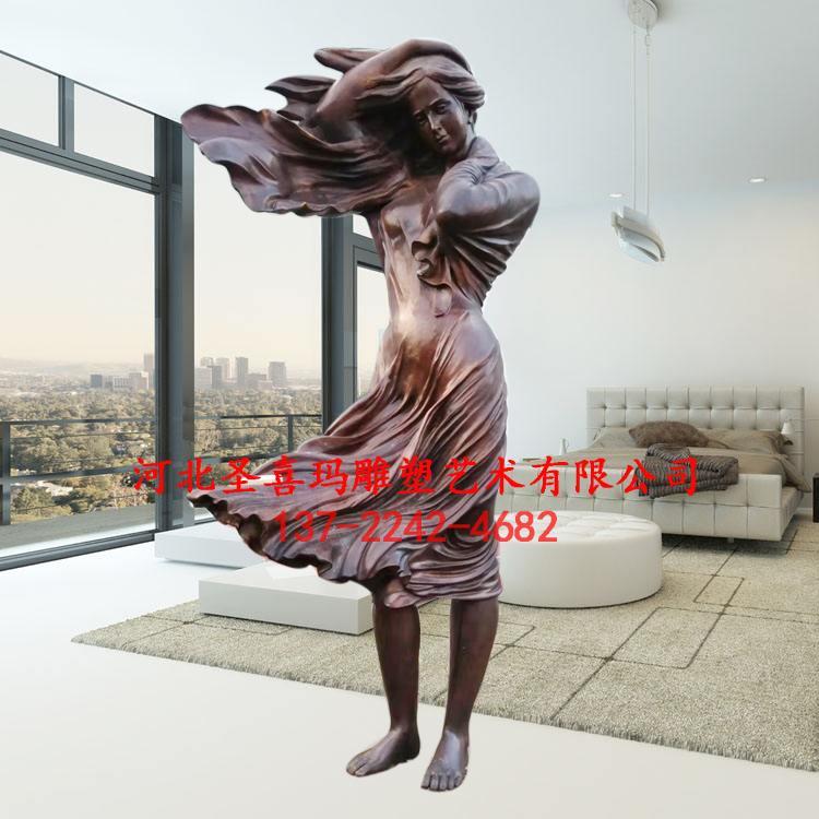 铸铜西方人物雕塑 现代人物雕塑 圣喜玛