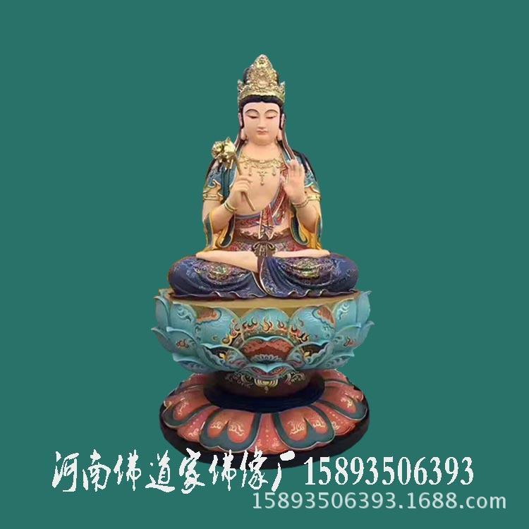 河南树脂佛像雕塑 西方三圣 阿弥陀佛 观世音菩萨 大势至菩萨像示例图3