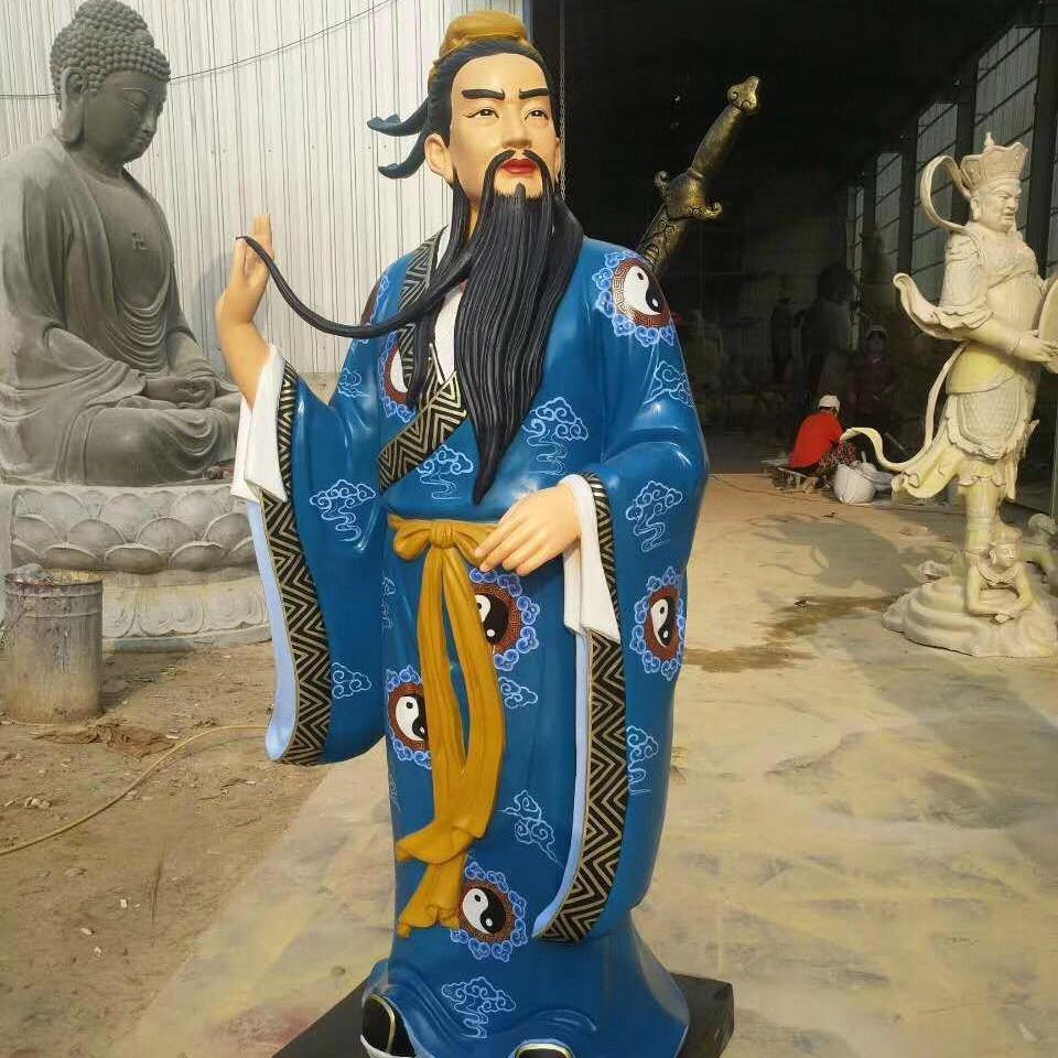 八仙神像 彩绘八仙过海神像雕塑