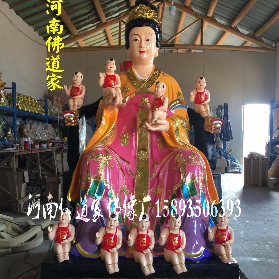 河南佛像雕塑厂 桃花圣母佛像图片 金花教主神像 九龙圣母佛道家示例图3