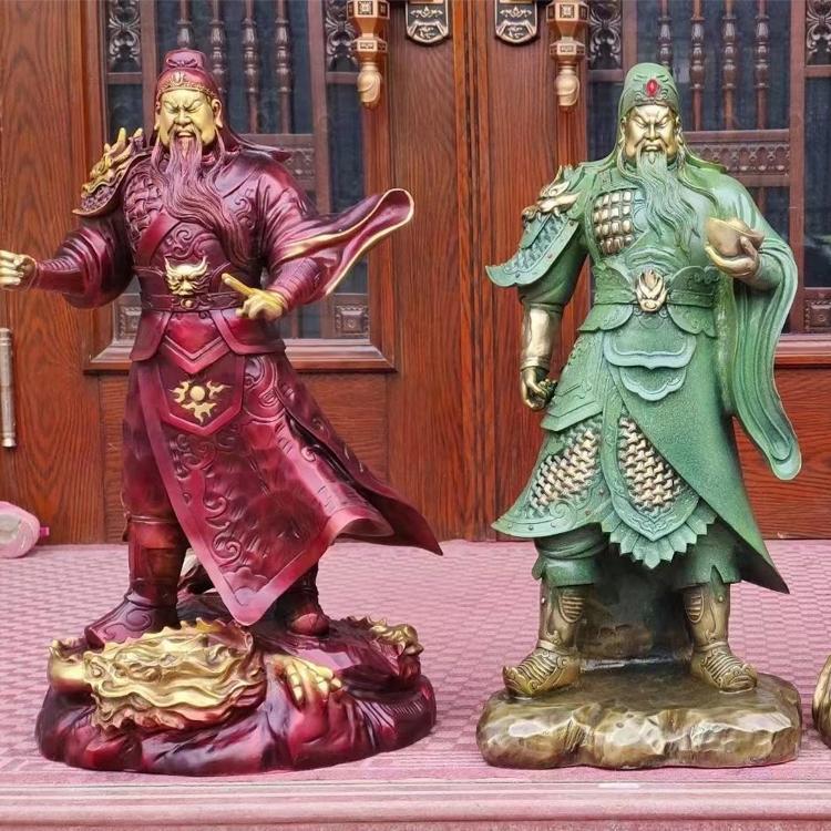 河北铜佛像厂家 护法韦陀佛像 韦陀天尊菩萨佛像 圣喜玛