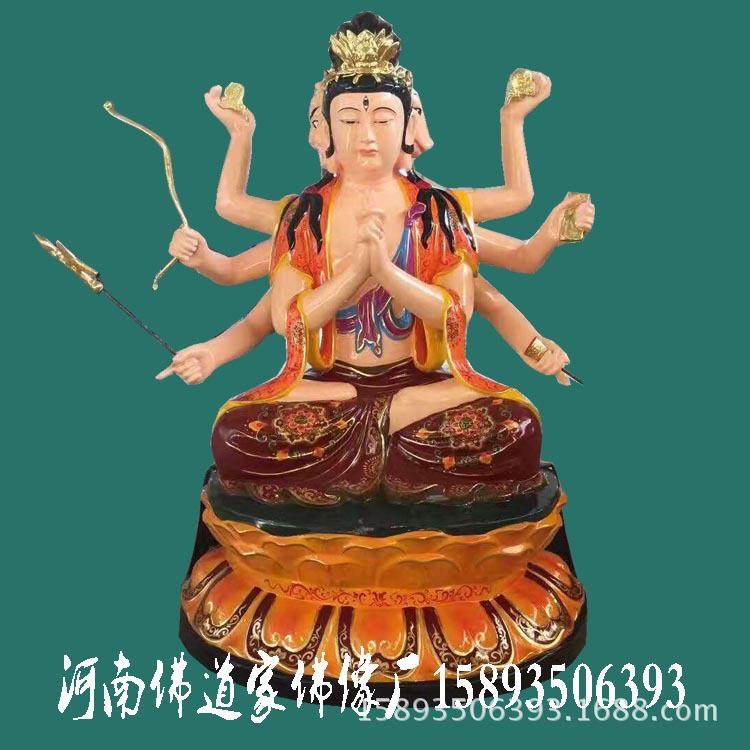 河南佛道家佛像生产斗母元君佛像 斗姆娘娘 斗姥 极彩玻璃钢神像示例图3