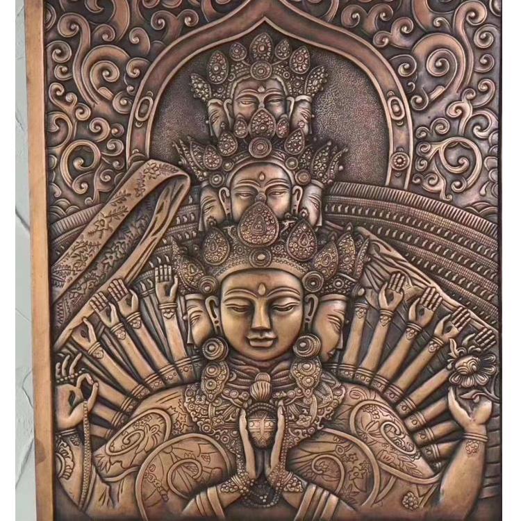 室内铜浮雕定制 大型铜浮雕生产 紫铜浮雕 圣喜玛