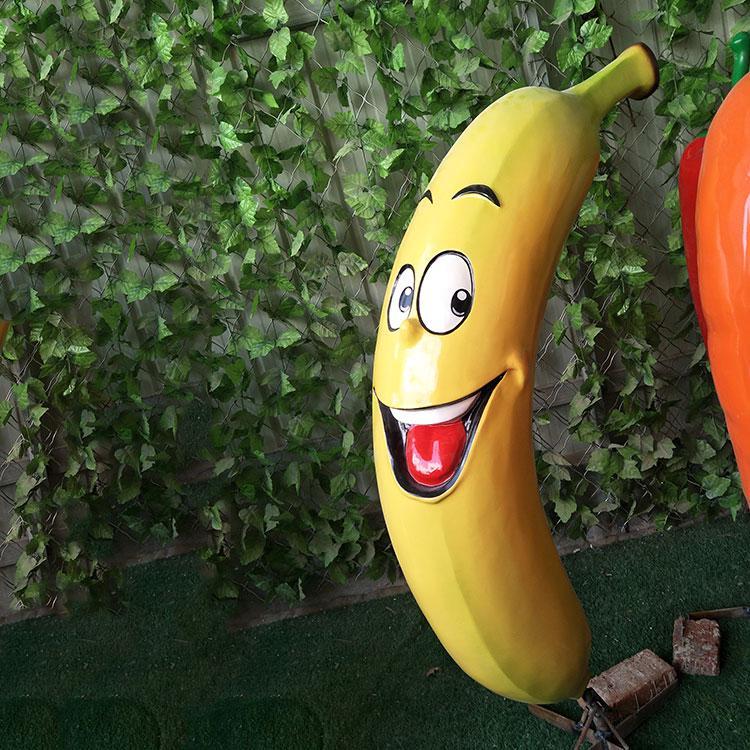玻璃钢水果雕塑 玻璃钢卡通香蕉定制,鹏钊