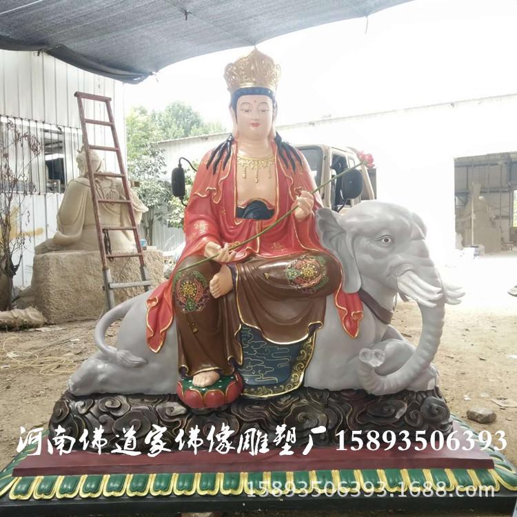 娑婆三圣佛像图片 华严三圣佛像厂家 极彩观世音菩萨雕塑2.1米示例图2