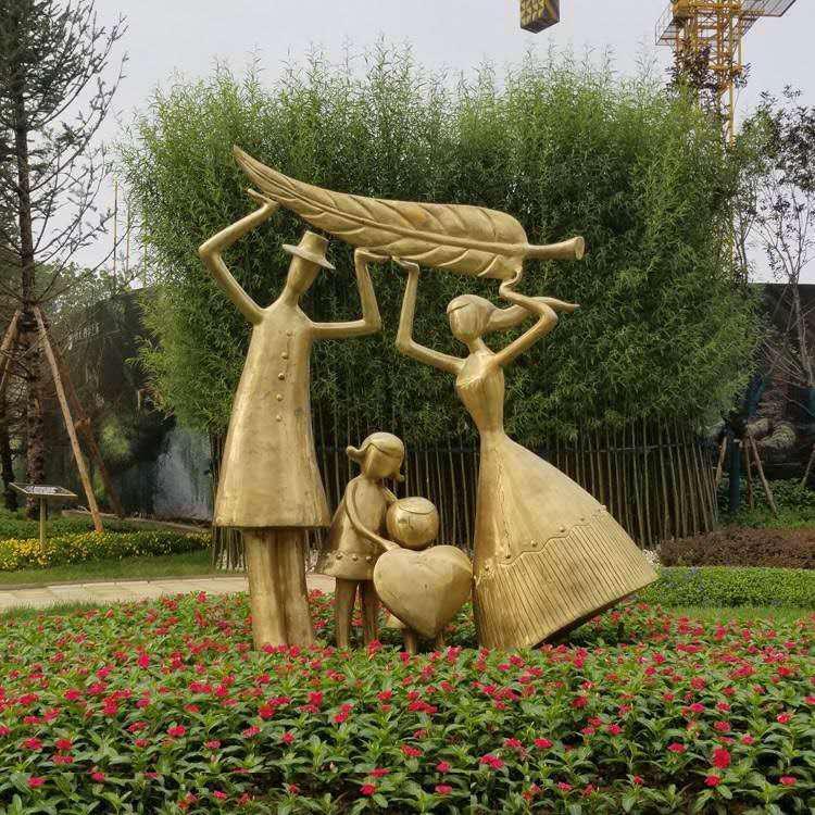 铸铜人物雕塑 景观工程摆件 圣喜玛