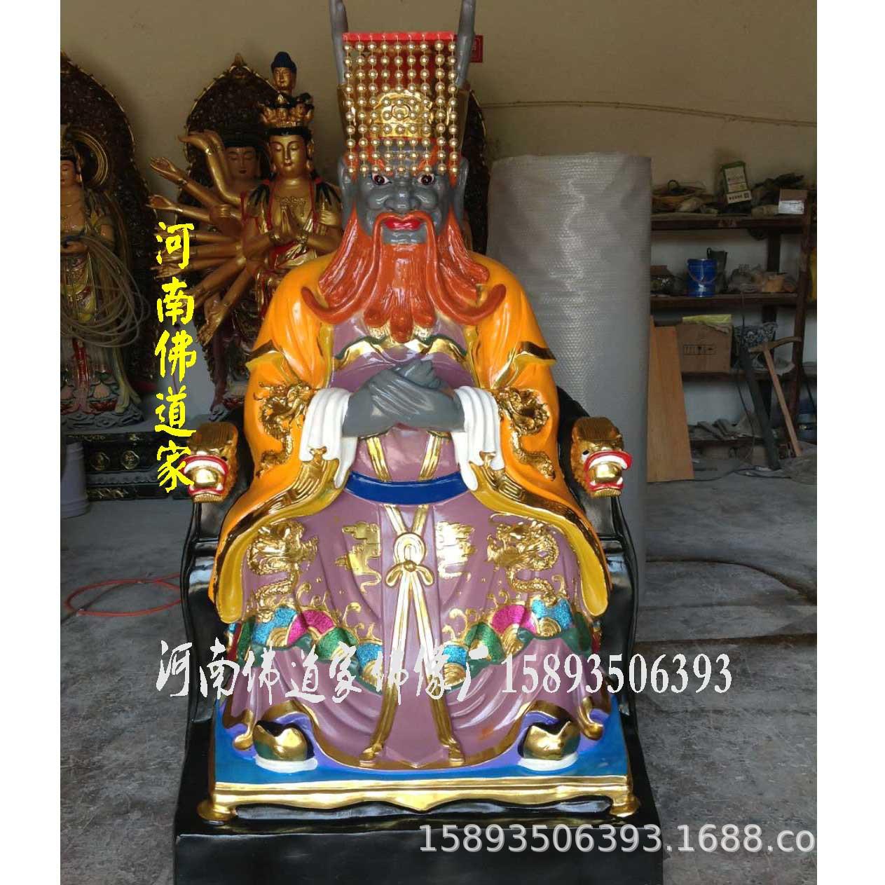 广济龙王菩萨佛像 五色龙神佛像 厂家销售四海龙王爷雕塑1.8米示例图5