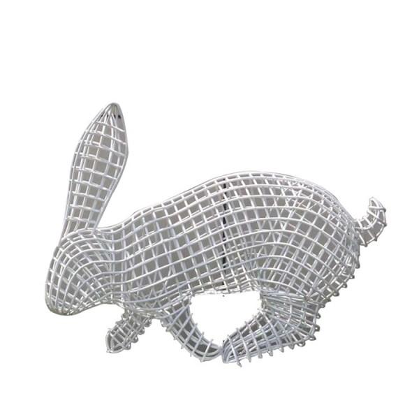 鹤岗市磊鸿园林不锈钢雕塑生产厂家 不锈钢动物雕塑 不锈钢雕塑造型定制