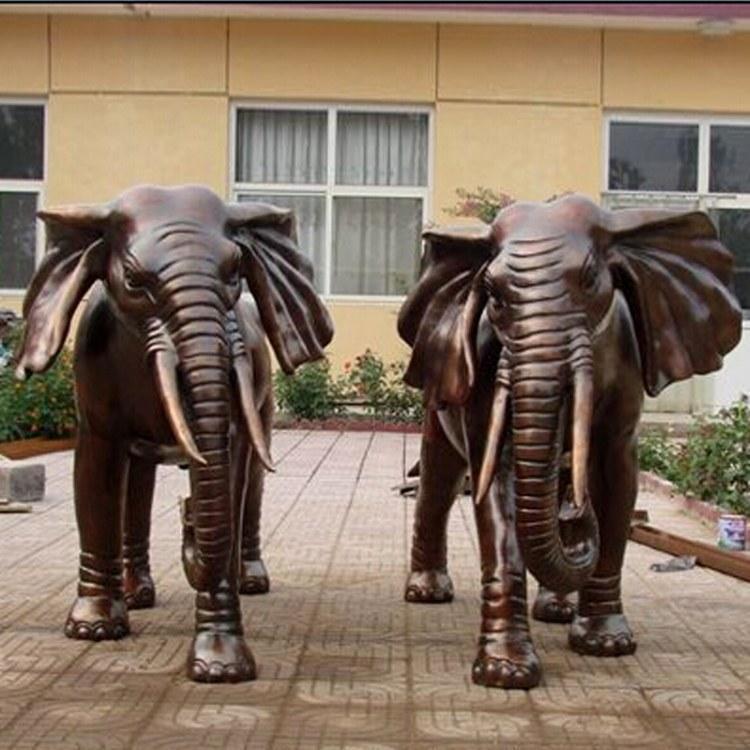 非洲铜大象定制 唐县铜大象铸造厂 圣喜玛